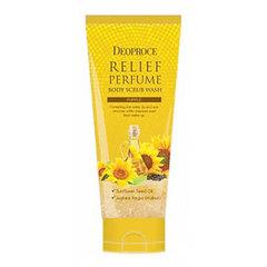 Deoproce Relief Perfume Body Scrub Wash - Sunflower Oil - Парфюмированный скраб с маслом семян подсолнуха для деликатного очищения тела
