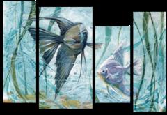 """Модульная картина """"Аквариумные рыбки"""""""