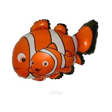 Фольгированные шары фигуры Фольгированный шар рыбка Немо. ryba-nemo-gelievyj-folgirovannyj-shar.jpg