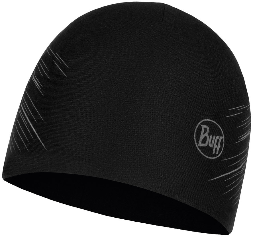 Спортивные шапки Двухслойная полиэстровая шапка Buff R-Solid Black Medium-118176.999.10.00.jpg