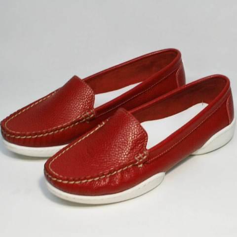 Женские мокасины туфли без каблука Evromoda 042.5710 WRed.