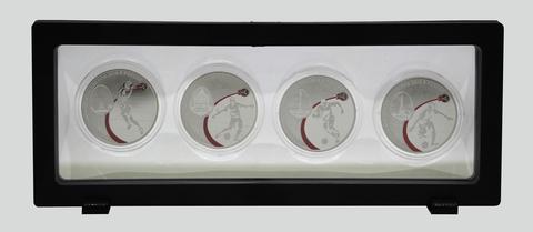 Футляр-рамка для презентации монет с подставкой (230 х 90 мм.) (пустая)