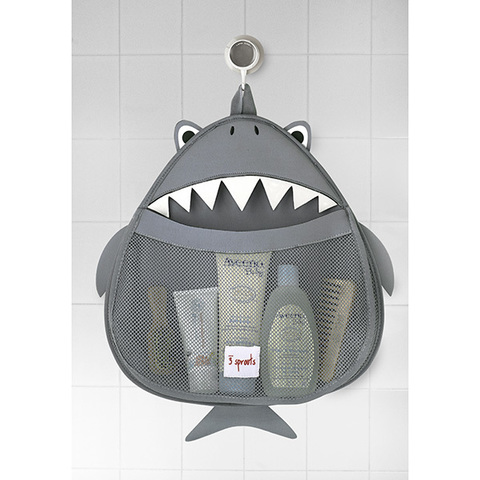 Органайзер для ванной 3 Sprouts Акула (серый)