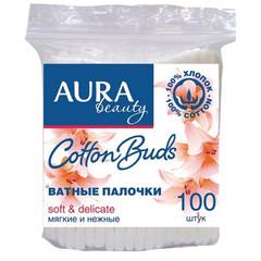 Палочки ватные Aura 100 штук в упаковке