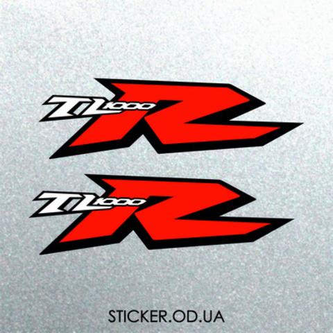 Набор наклеек на мотоцикл Suzuki TL 1000R, 2шт.