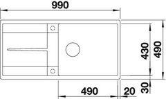 Мойка Blanco Metra XL 6S-F схема