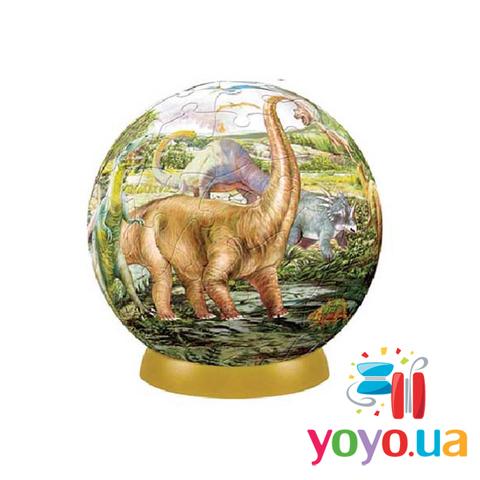 Шаровый 3D Пазл Pintoo - Динозавры 540 деталей 23 см