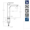 Смеситель для раковины высокий YPSILON PLUS 6410 - фото №3