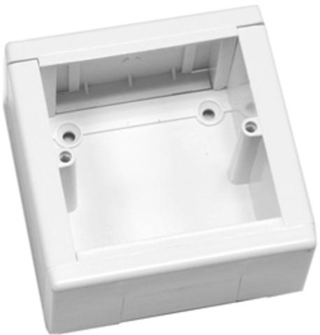 SM Коробка 1 пост для розетки 60 мм. Цвет Белый. Ecoplast (ЭКОПЛАСТ). 72911