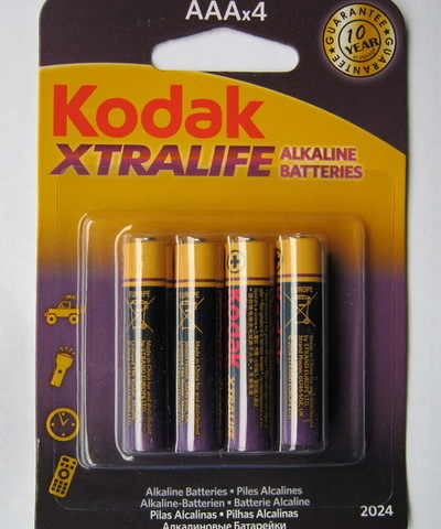 Батарейки Kodak XtraLife LR03, AAA (4/60)