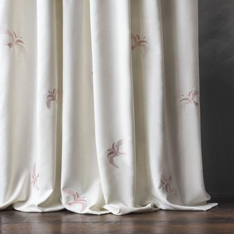 Комплект штор с вышивкой Либретто молочный