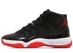 Кроссовки Мужские Nike Air Jordan XI Retro Black White Red