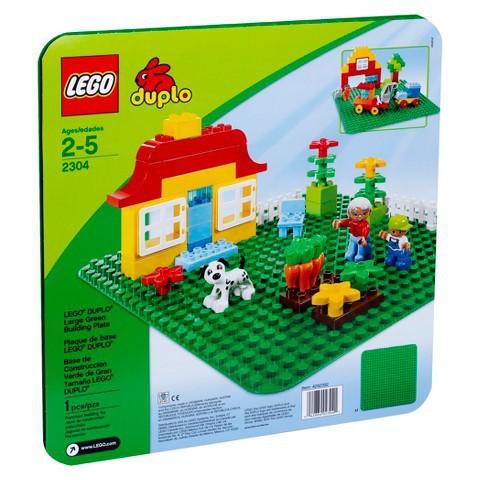 LEGO Duplo: Строительная зеленая пластина 2304 — Large Building Plate — Лего Дупло