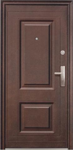 Дверь входная К50-2 стальная, орех, 2 замка, фабрика Сибирский Стандарт
