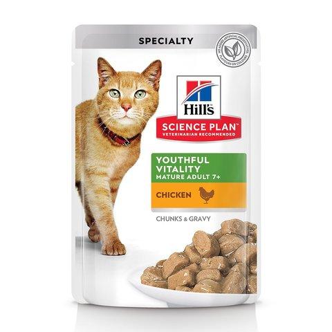 Hill's Youthful Vitality пауч для пожилых кошек (курица) 85 г