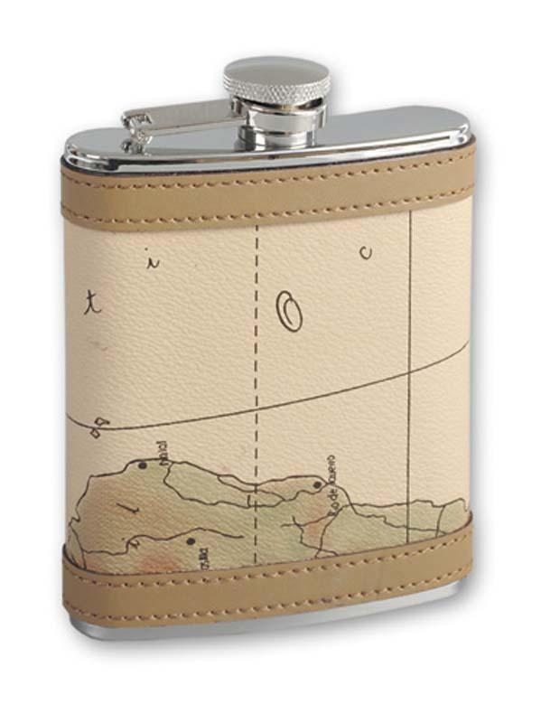 Итальянская фляга S.Quire «Карта», 270 мл фляга s quire камуфляж 270 мл