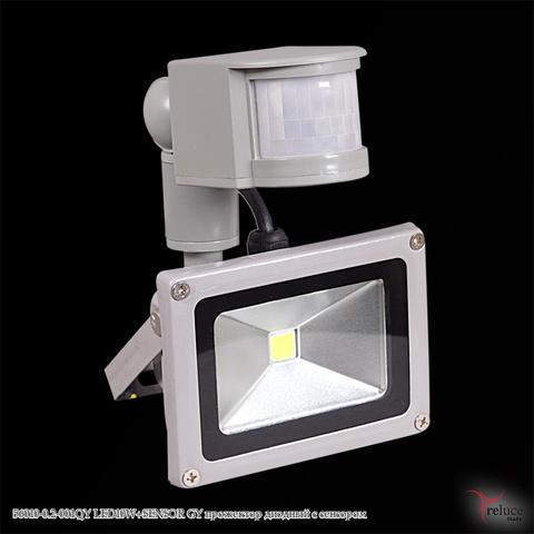 56010-0.2-001QY LED10W+SENSOR GY прожектор диодный с сенсором