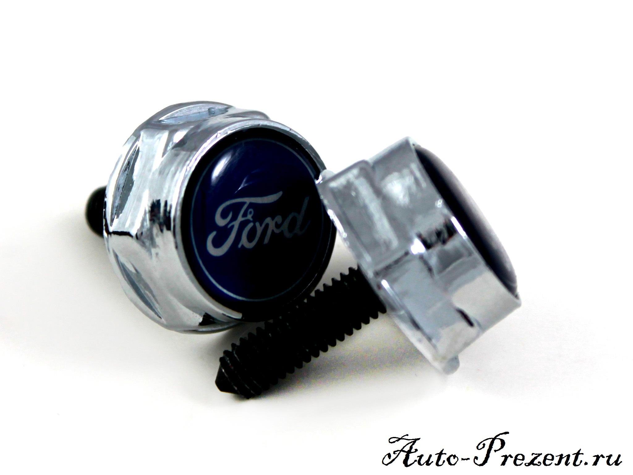Болты для крепления госномера с логотипом FORD