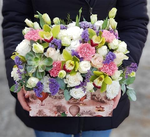 Ящик с цветами Январь 5