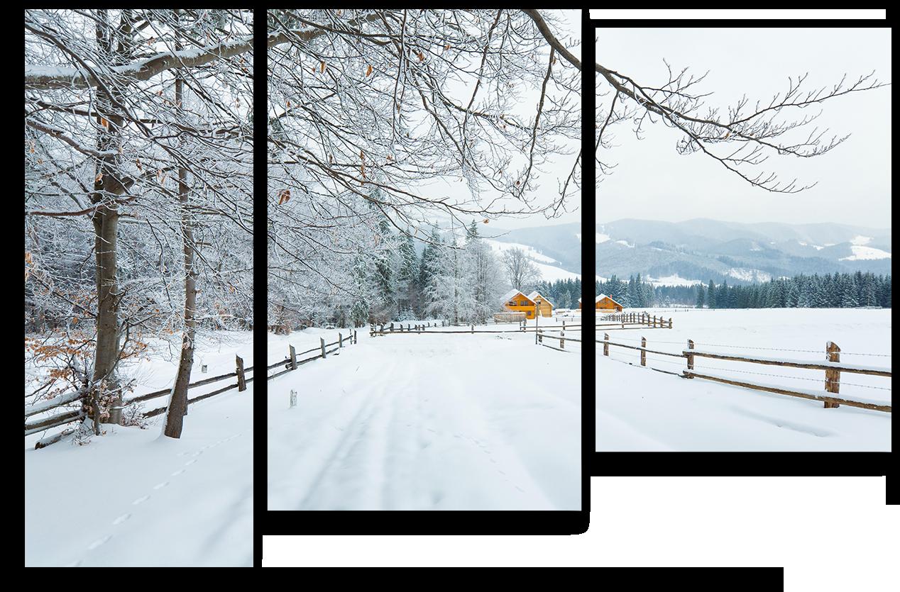 "Природа Модульная картина ""Дорога в снегу"" М892.png"