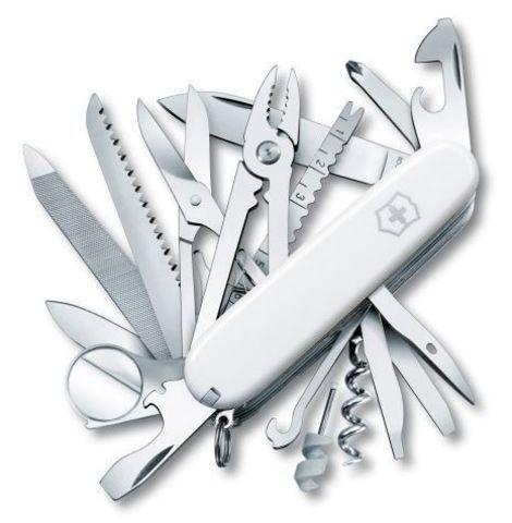 Нож Victorinox SwissChamp, 91 мм, 33 функции, белый