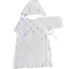 Папитто. Набор для крещения мальчика, рубашка и чепчик вид 1