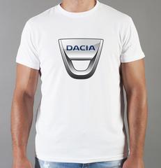 Футболка с принтом Dacia (Дачия) белая 002