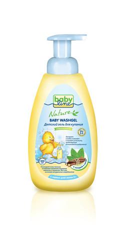 Детский гель для купания Babyline Nature  500мл c мятой и солодкой