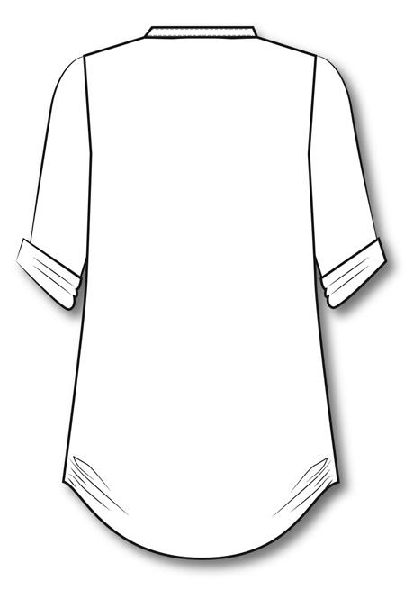 Выкройка туники - рубашки на заказ