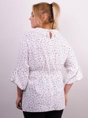 Мила. Стильная блуза больших размеров. Абстракция.