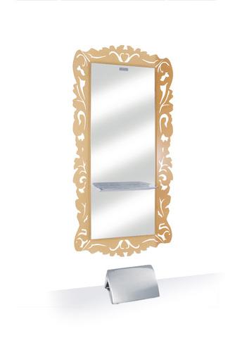 Зеркало парикмахерское DEMO с золотистой рамой