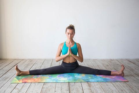 Коврик для йоги Мана 183*61*0,35 см из микрофибры и каучука