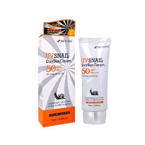 Солнцезащитный крем с улиточным муцином 3W CLINIC UV Snail Day Sun Cream SPF50+/PA+++ 70 мл