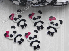 Плоский декор Панда с бантиком (глянец)