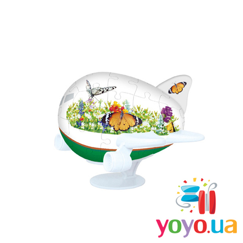 3D Пазл Pintoo Самолетик - Бабочки 40 деталей