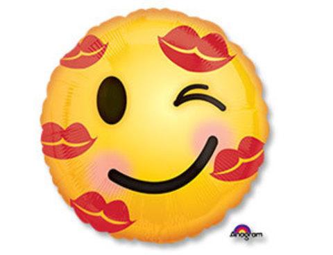 Фольгированный шар Смайл в поцелуях