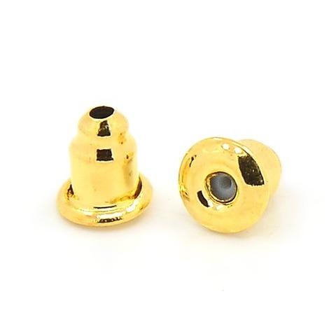 Заглушка для серег цвет золото 1пара