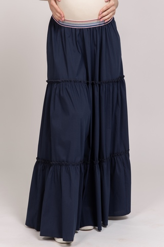 Юбка для беременных 10610 т.синий