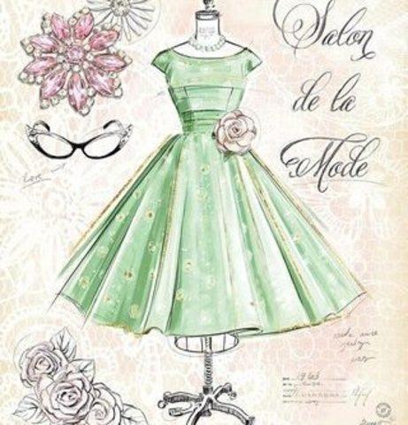 Алмазная Мозаика 30x40 Зеленое платье (арт. S1592)