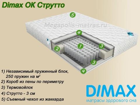 Матрас Димакс ОК Струтто купить недорого в Москве от Мегаполис-матрас
