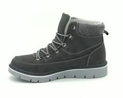 Серые ботинки на шнуровке