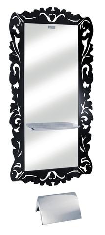 Зеркало парикмахерское DEMO с черной рамой