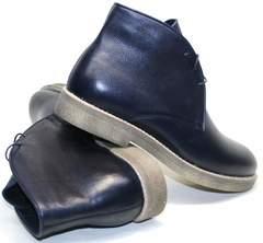 Зимние ботинки на шнурках мужские Ikoc 004-9 S