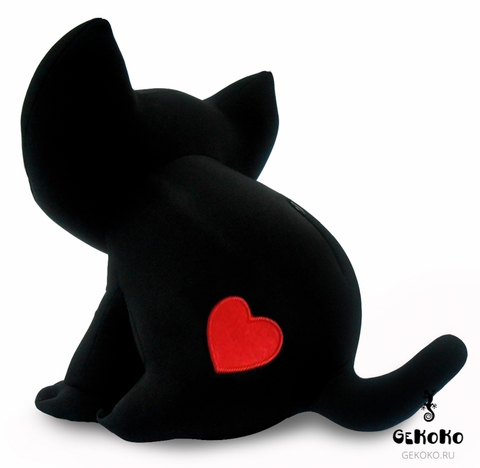 Подушка-игрушка «Котенок Лаки с сердцем»-2