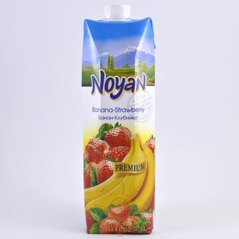 Нектар клубнично-банановый Noyan, 1л