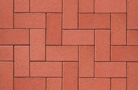 ABC Rot nuanciert, 200x100x45 - Клинкерная тротуарная брусчатка