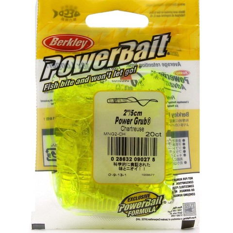 Приманка силиконовая Berkley Powerbait Power Grub MPG2-CH Chartreuse 2