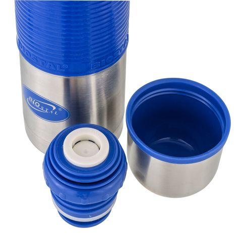 Термос Biostal Flër (1 литр) с силиконовой вставкой, голубой