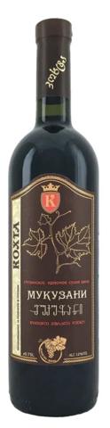 Вино Мукузани защ. наим. красное. сух. 0,75 л рег. Кахетия