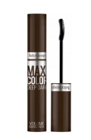 BelorDesign Тушь для ресниц Maxi Color объемная шоколадная